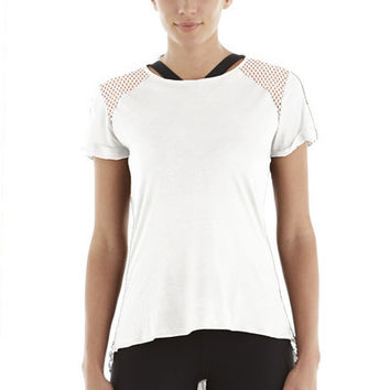 Michi Liquify Top- White | Womens Active Wear