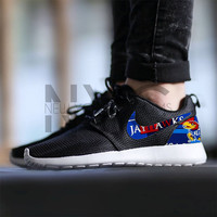 Nike Roshe Run Black Kansas University KU Jayhawks Custom