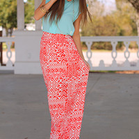 Always Aztec Maxi Skirt, Orange