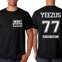 HOT West 2020 Shirt Yeezus 77 Tshirt Unisex Size - RT47