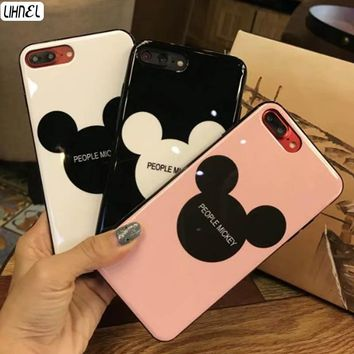 LIHNEL Cute Mickey Mouse Head Design Pattern IMD Soft TPU Full Coverage Shell Cover for iPhone X 6 Plus 6 6S 7 7Plus 8 8Plus
