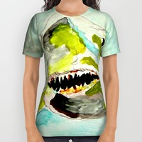 Great White Hope All Over Print Shirt by Bruce Stanfield | Society6