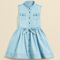 DKNY Girls' Leslie Denim Dress - Sizes S-XL | Bloomingdale's