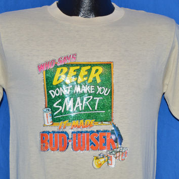 80s Beer Don't Make You Smart t-shirt Small