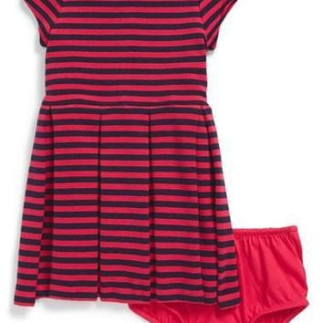 Infant Girl's Ralph Lauren Knit Dress & Bloomers,