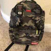 SOLD OUT NWT Sprayground Gold Camo Drip Wings Backpack Limited Edition