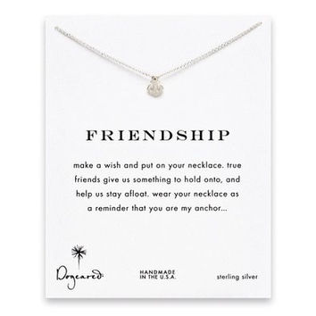 """DOGEARED FRIENDSHIP NECKLACE,SILVER, 16"""""""