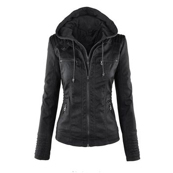 SexeMara Brand Women's Leather Motorcycle Jacket