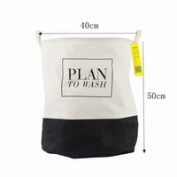 Plain to Wash Black Foldable Cloth Laundry Basket Laundry Hamper Toy Storage Basket