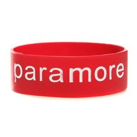 Paramore Red Rubber Bracelet