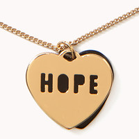 Hope Heart Pendant Necklace