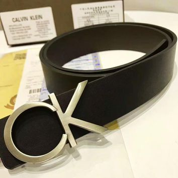 CK Black Belt Calvin Klein Women Black Belt Big Buckle B-AGG-CZDL Black
