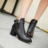 Buckle Ankle Boots High Heels Women Shoes Fall|Winter 8780