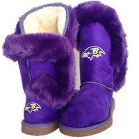"""Baltimore Ravens Women's Cuce Official NFL """"Champions"""" Boots"""