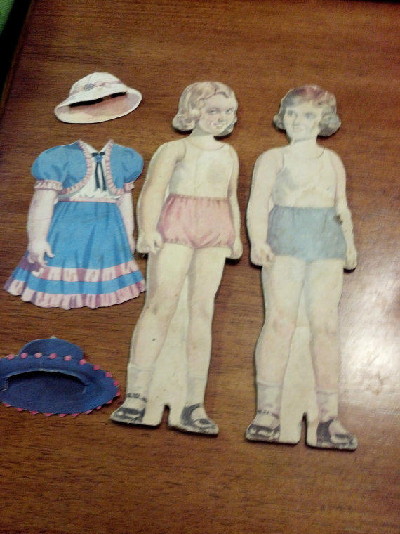 Vintage life like paper doll pair 1950 39 s from rceastman for Vintage sites like etsy