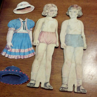 Vintage Life-Like Paper Doll Pair, 1950's Simplex Toys, Vintage Toy