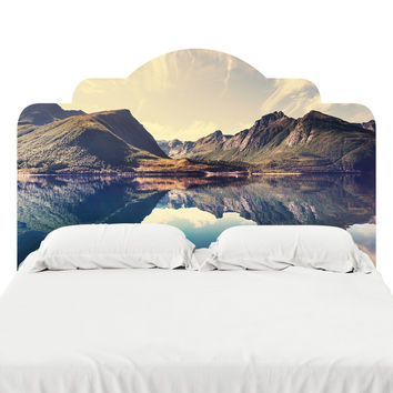 Scandinavian Rockies Headboard Decal