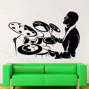 Wall Stickers Vinyl Decal Drum Music Band Rock Rock`n`Roll Decor  Unique Gift (z2205)