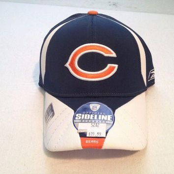 LMFOK8 BRAND NEW CHICAGO BEARS RETRO REEBOK SIDELINE OSFA FITTED HAT SHIPPING