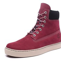 Timberland Rhubarb Boots 6867R Wine Red For Women Men Shoes Waterproof Martin Boots