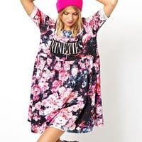 ASOS Smock Dress In Floral Nineties at asos.com