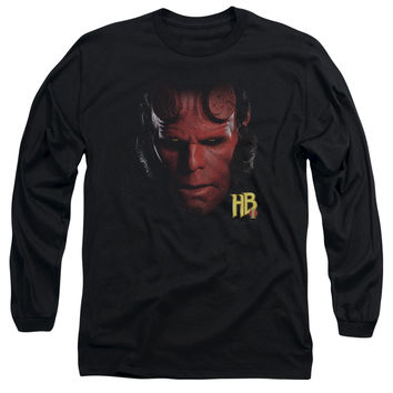 HELLBOY II/HELLBOY HEAD - L/S ADULT 18/1 - BLACK -