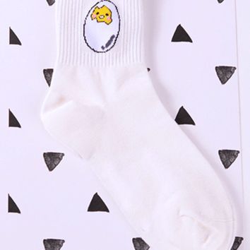 Shy Eggy Kawaii Socks