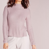 Missguided - high neck knitted jumper mauve