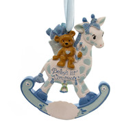 Personalized Ornament Rocking Giraffe Baby's 1St Resin Ornament