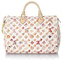 Louis Vuitton Limited Edition Watercolor Aquarelle Speedy 35 Handbag
