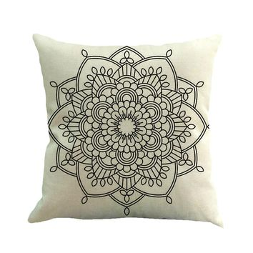 Geometry Painting Linen Cushion Cover Throw Pillow Case Sofa Home Decor