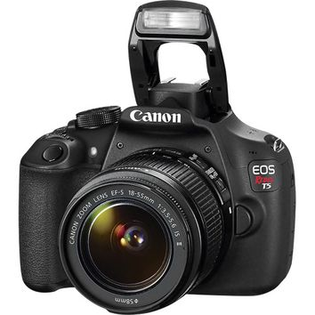 Canon - EOS Rebel T5 DSLR Camera with 18-55mm IS Lens - Black