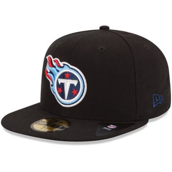 New Era Tennessee Titans Black 59FIFTY Fitted Hat