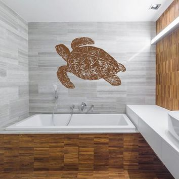 ik2449 Wall Decal Sticker sea turtle living room bedroom bathroom