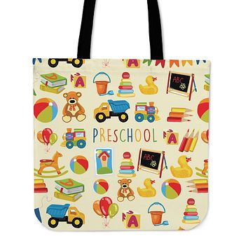 Preschool Teacher Linen Tote Bag - Promo