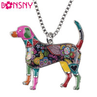 Bonsny Metal Alloy Enamel Beagle