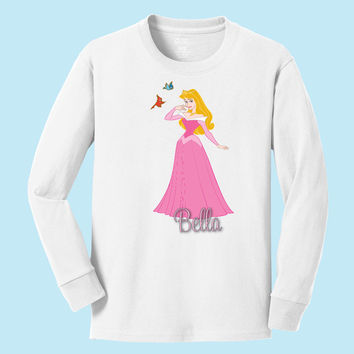 Disney's Aurora personalized long sleeve T shirts