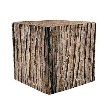 Bark Wooden Cube Cover Photography Prop - CUBE13