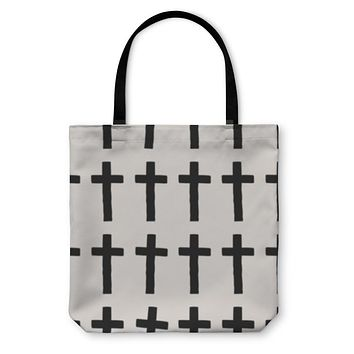 Tote Bag, Cross Pattern