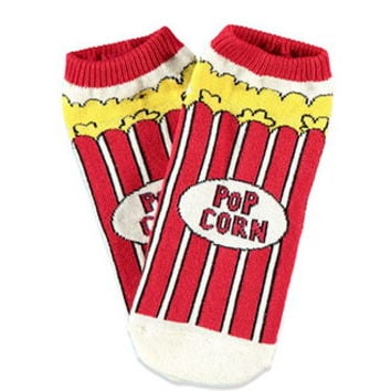 Popcorn-Patterned Ankle Socks