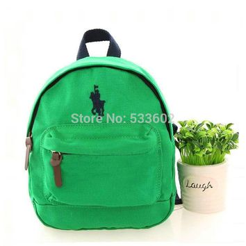 Children polo bags anti-lost canvas backpack Kids 100% cotton mochila infantil High quality satchel