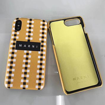 Marni Fashion iPhone Phone Cover Case For iphone 6 6s 6plus 6s-plus 7 7plus 8 8plus X
