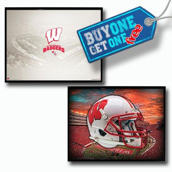Wisconsin Badgers Buy One Get One Free Poster Set