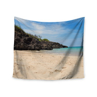 "Nastasia Cook ""Hapuna Beach"" Brown Blue Wall Tapestry"
