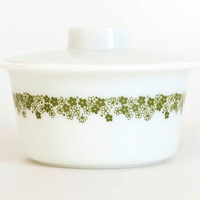 Vintage Pyrex Spring Blossom Promotional Margarine Butter Dish Crazy Daisy Refrigerator Dish with LID