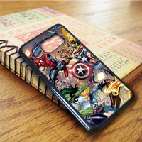 Marvel All Character Super Heroes Samsung Galaxy S6 Edge Case