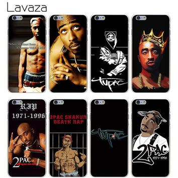 Lavaza 2Pac Tupac Shakur Hard Transparent Cover Case for iPhone X 10 8 7 6 6S Plus 5 5S SE 5C 4 4S