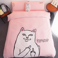 RIP N DIP Cat Four Piece Duvet Bedding Set