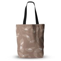 """Alison Coxon """"Leaf Tawny"""" Brown Beige Everything Tote Bag"""