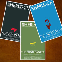 11x17 Sherlock Art Print Collection A Study by ModernStylographer